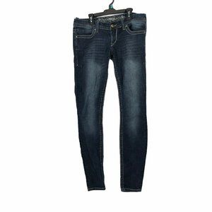 Express Womens Size 6 Distressed Skinny Leg Jeans
